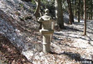 慶応2年の石灯籠