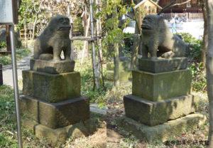六郷神社狛犬(貞享2年奉納)