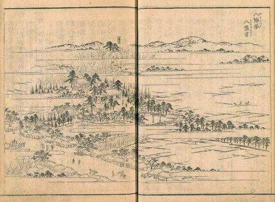 六郷神社『江戸名所図会』八幡塚八幡宮