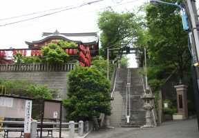 茶ノ木稲荷と男坂