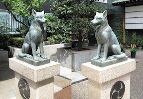 日本狼の狛犬