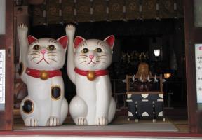 招き猫と福禄寿