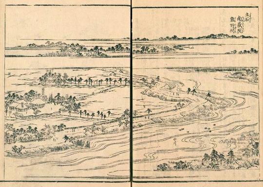 五方山熊野神社『江戸名所図会』