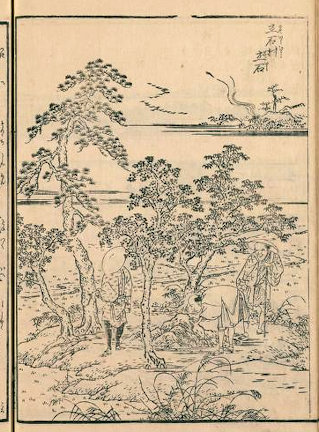 五方山熊野神社『江戸名所図会』立石村立石