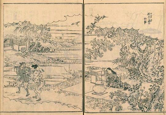 於玉稲荷神社『江戸名所図会』於玉ヶ池の古事