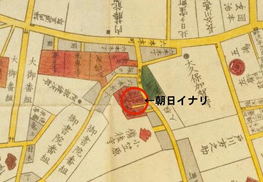 朝日神社切絵図