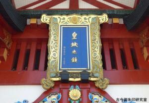 赤坂日枝神社随神門の扁額