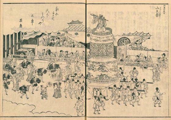 赤坂日枝神社江戸名所図会