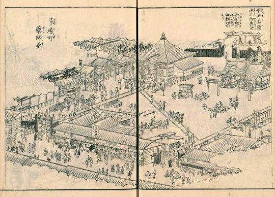 日枝神社日本橋摂社江戸名所図会
