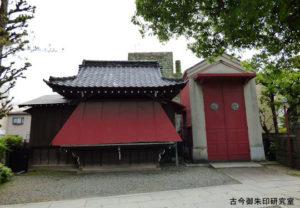 麻布氷川神社神楽殿と神輿庫