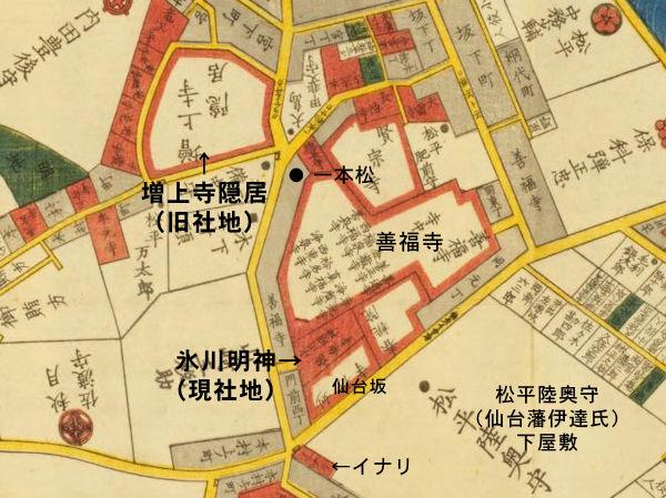 麻布氷川神社「麻布絵図」
