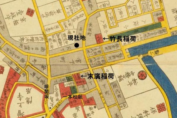 十番稲荷神社切絵図