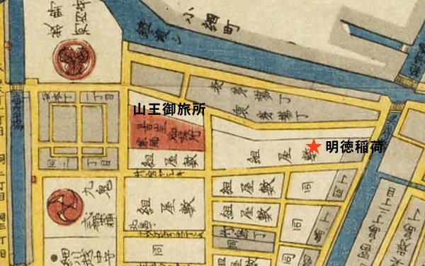 築地八町堀日本橋南絵図