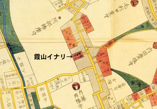 櫻田神社麻布絵図
