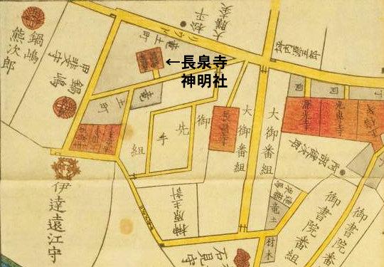 六本木天祖神社(龍土神明宮)切絵図