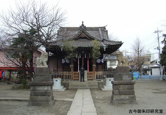 東官守稲荷神社・萩中神社拝殿