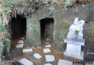 穴澤天神社洞窟と弁財天像