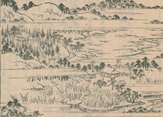 国安宮(江戸名所図会)