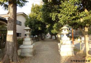 青渭神社参道