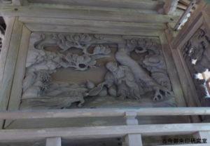 青渭神社社殿彫刻(浦島太郎)