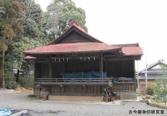 阿豆佐味天神社神楽殿