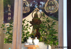稲足神社韋駄天尊神像