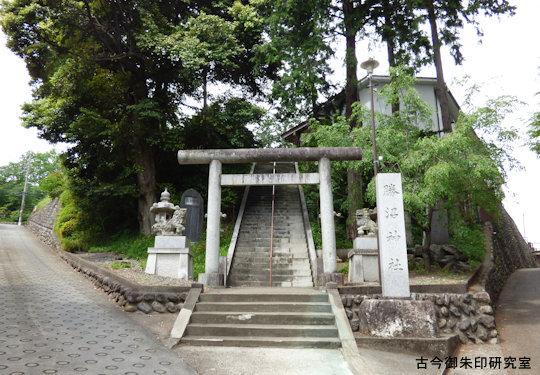 勝沼神社正面参道の鳥居