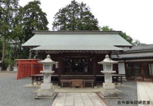 勝沼神社拝殿