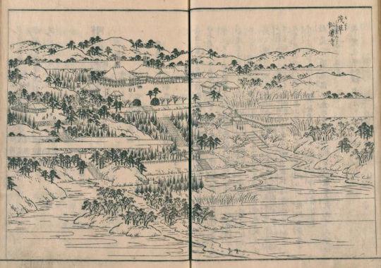 茂草松蓮寺(江戸名所図会)