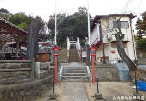 大麻止乃豆乃天神社社前風景