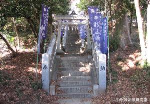 杉山神社参道と二の鳥居