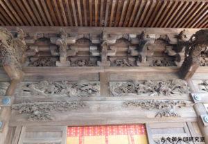 住吉神社(青梅)拝殿の彫刻