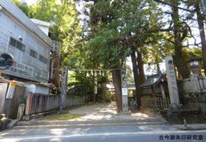 一宮神社(徳島)注連柱と社号標