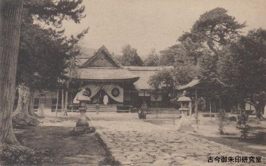 旧社殿(絵はがき)