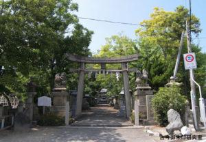 川之江八幡神社社頭