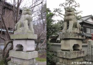 周敷神社狛犬
