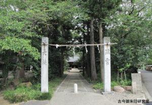 浮嶋神社南参道の注連柱