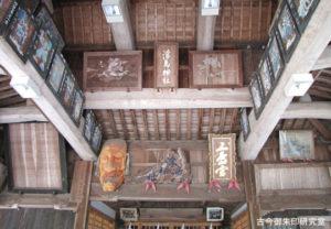 浮嶋神社舞殿内部